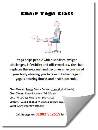 Chair Yoga Flyer Template
