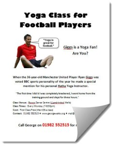 Football Yoga Class Poster Template