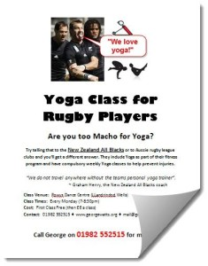 Rugby Yoga Class Poster For Web