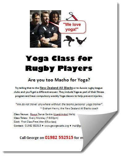 Rugby Yoga Class Flyer Template