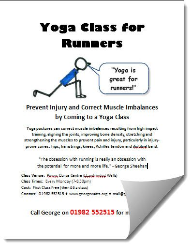 Runners Yoga Class Poster Template
