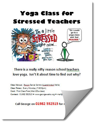 Teachers Yoga Class Flyer Template
