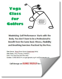 Yoga For Golfers Poster Template