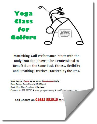 Yoga For Golfers Flyer Template