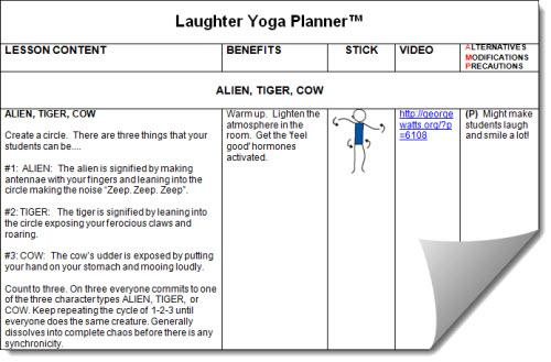 Laugher Yoga Lesson Planner