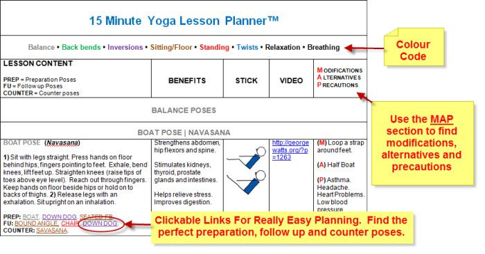 Yoga Lesson Planning Software