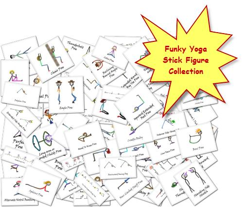 Funky Yoga Stick Figure Collection