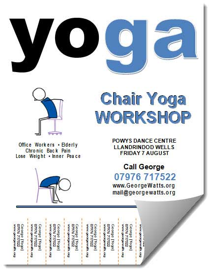 chair yoga flyer templates