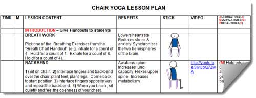 chair yoga lesson plan