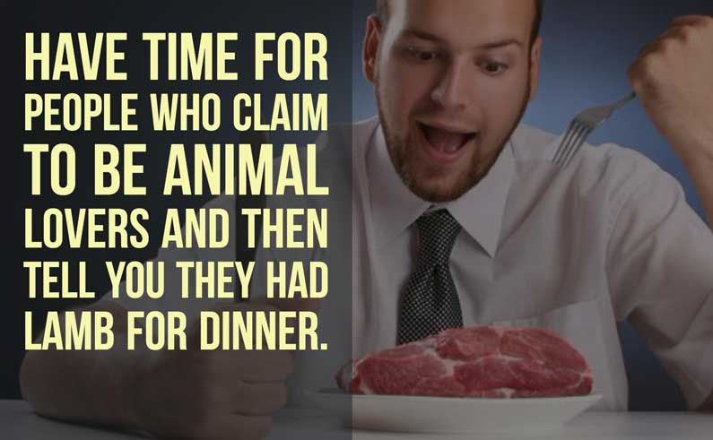 animal lovers who eat meat
