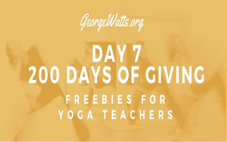 Yoga Marketing Tactic: Give. Give. Give