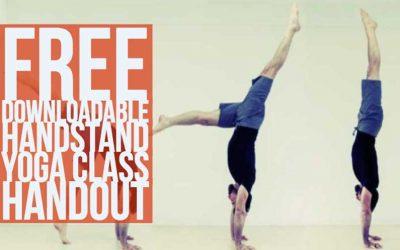 Free Downloadable Handstand Yoga Class Handout