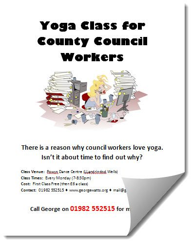 Yoga Flyer Template For County Council Workers