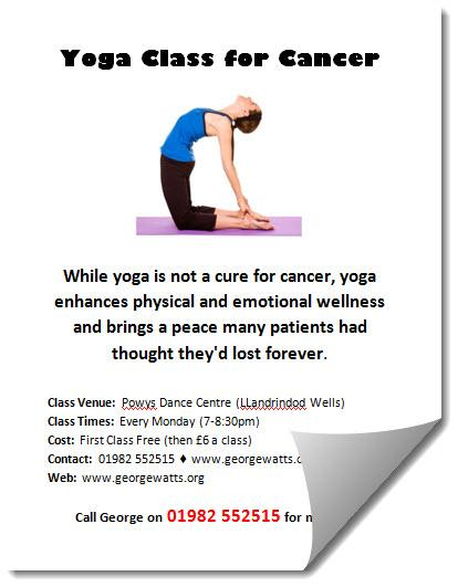 Yoga for cancer flyer template