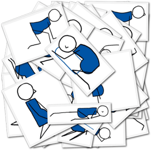Downloadable Pregnancy Yoga Stick Figures