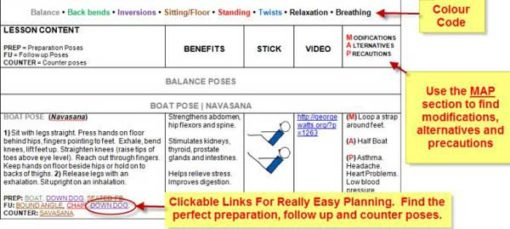 yoga lesson planner ms word