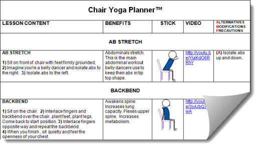 Chair Yoga Lesson Plan Tips | Chair Hamstring Stretch