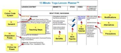 yoga lesson planner