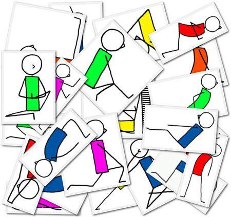 1536 Yoga Stick Figures