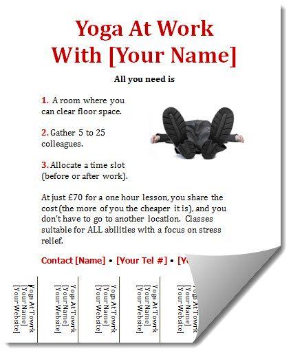 corporate yoga flyer