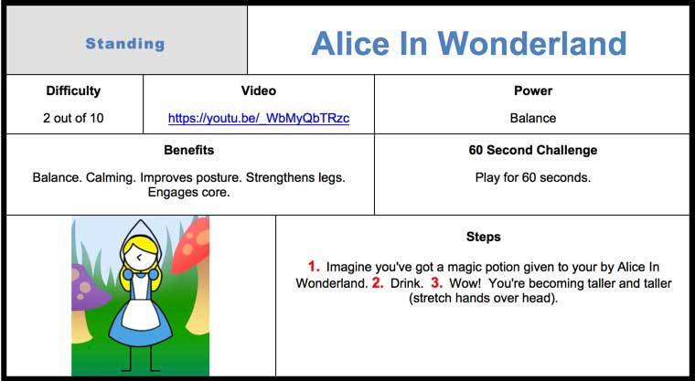Alice In Wonderland Kids Yoga