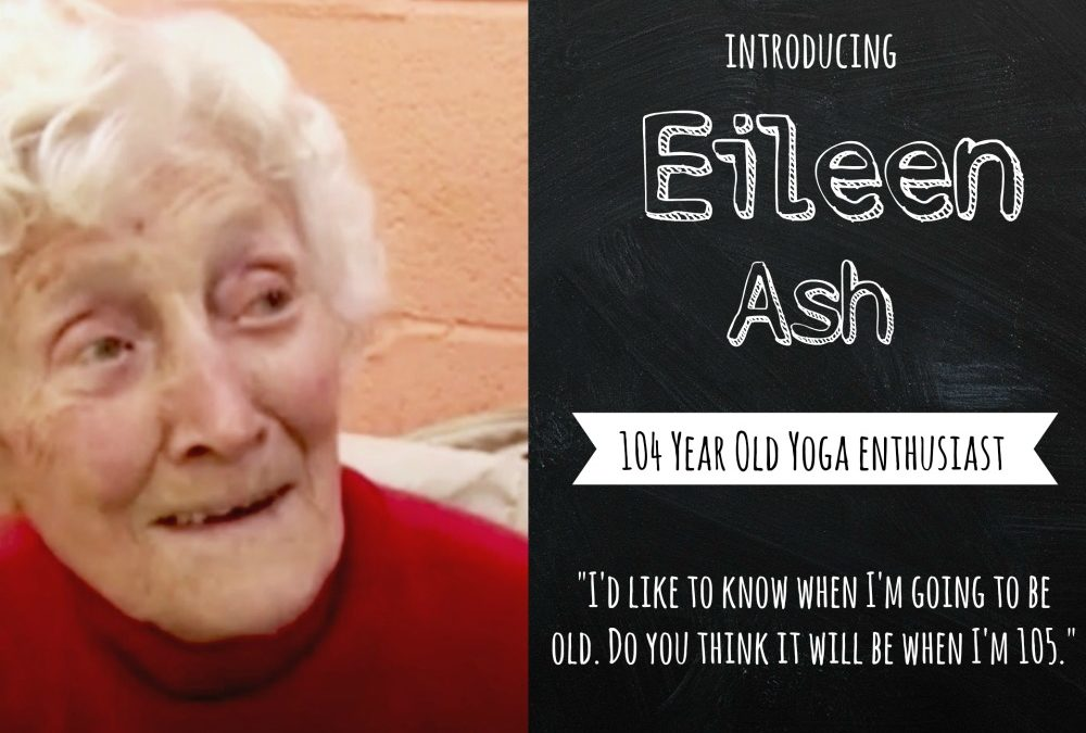 Chair Yoga Lesson Plan Inspired By 104 Year Old Yogi, Eileen Ash: Free Download