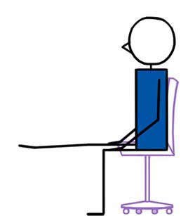 ankle curl chair yoga