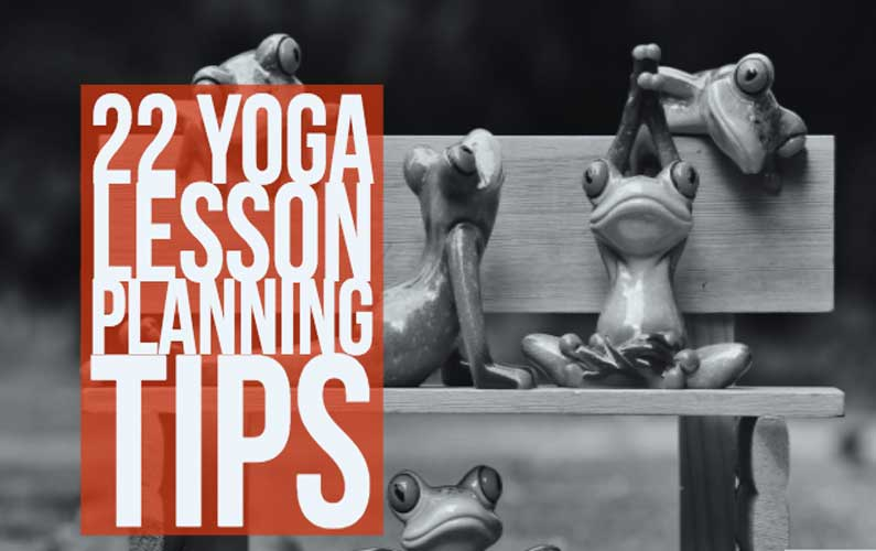 yoga lesson planning tips