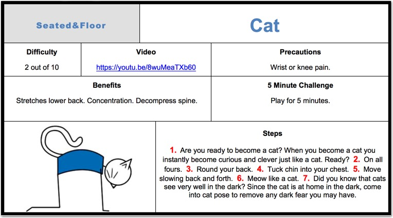 Cat Pose For Kids