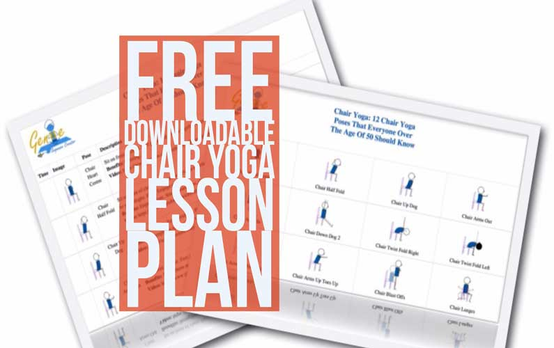 Free Downloadable Chair Yoga Lesson Plan (PDF)