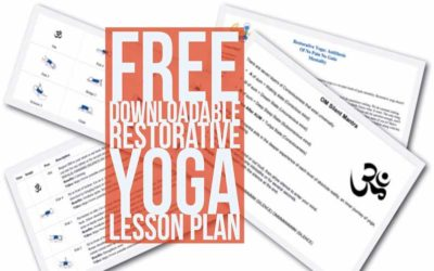 Free Downloadable Restorative Yoga Lesson Plan (PDF)