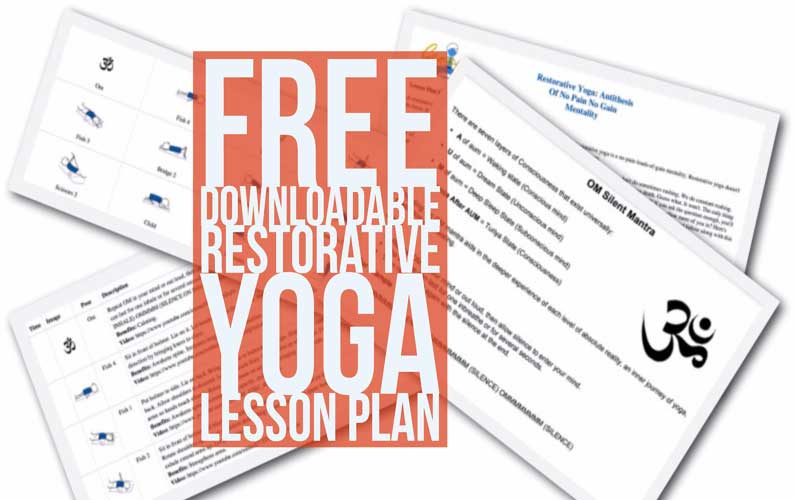 Restorative Yoga Lesson Plan