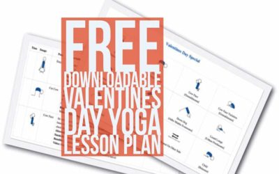 Free Downloadable Valentines Yoga Lesson Plan (PDF)