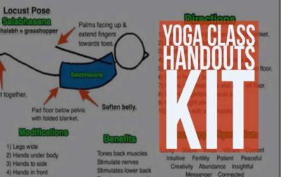 Yoga Class Handouts Kit