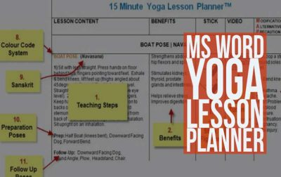 MS Word Yoga Lesson Planner