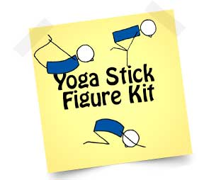 yoga stick figure kit