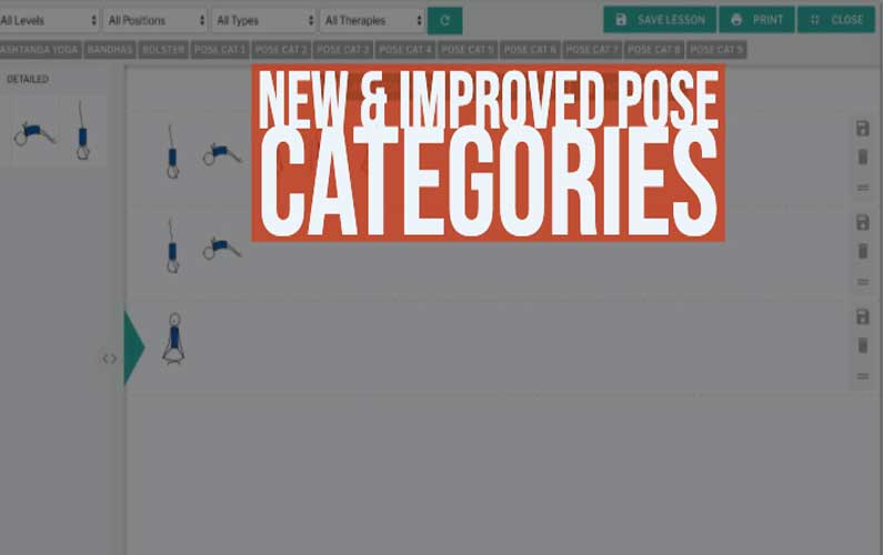 Yoga Genie Lesson Planner: New & Improved Pose Categories