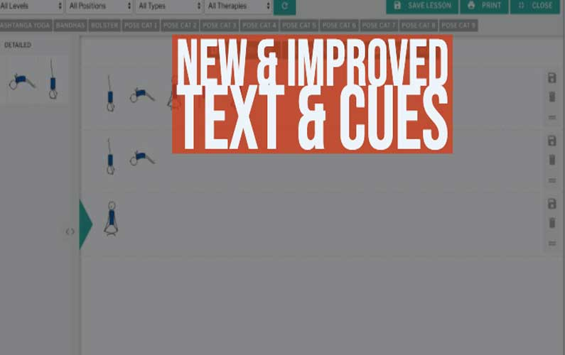 yoga planner text & cues feature